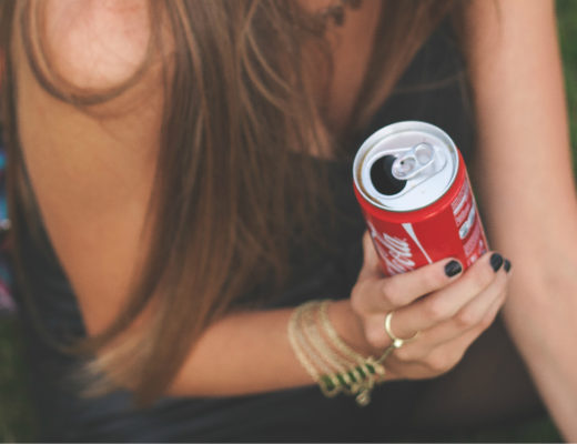 Girl soda drinker at risk for diabetes.