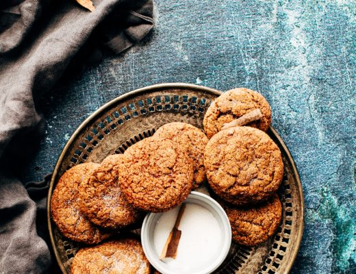 Plate of carbohydrate filled cookies.